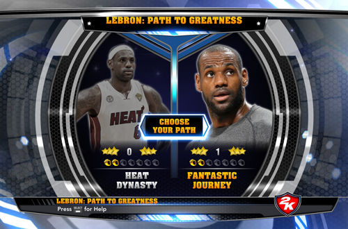LeBron James: Path to Greatness in NBA 2K14