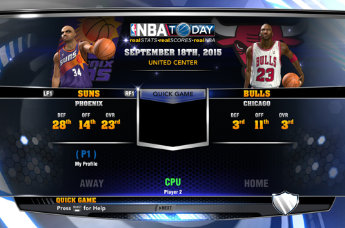 Ultimate 90s Bulls vs. Suns in the Ultimate Base Roster for NBA 2K14 PC