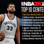 Top 10 Centers in NBA 2K16