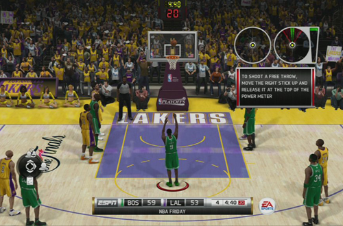 Free Throw Shooting in NBA Elite 11