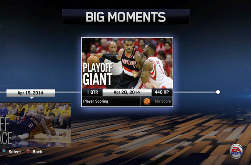 Playoff Giant BIG Moment in NBA Live 14