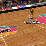 Gary Payton dribbles up court in NBA Live 96