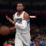 Chris Paul dribbles up court in NBA 2K16