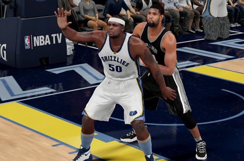 Tim Duncan vs. Zach Randolph in NBA 2K16