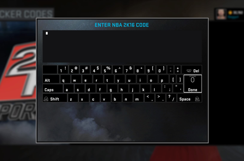 Enter Locker Codes in NBA 2K16