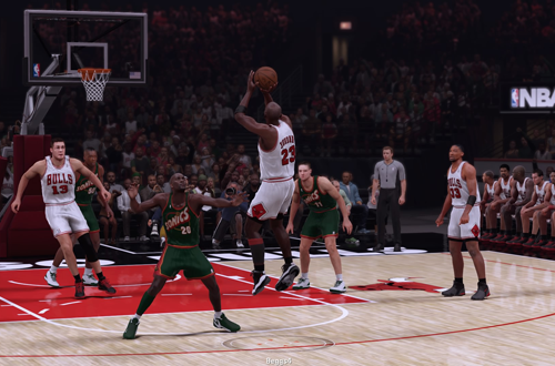 Michael Jordan vs. Gary Payton in NBA 2K16