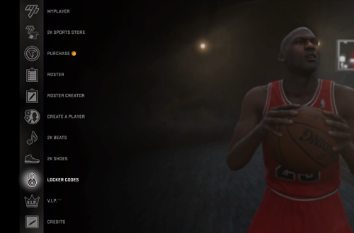 Locker Codes Menu Option in NBA 2K16