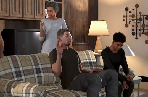 With the family in NBA 2K16 MyCAREER