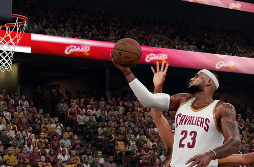 LeBron James in NBA 2K16