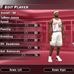 Updated Current Ratings for LeBron James in NBA Live 2004 (Part 3)