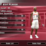 Updated Current Ratings for LeBron James in NBA Live 2004 (Part 5)