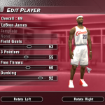 LeBron James' Default Ratings in NBA Live 2004 (Part 1)