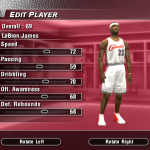 LeBron James' Default Ratings in NBA Live 2004 (Part 3)