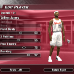 Updated Rookie Ratings for LeBron James in NBA Live 2004 (Part 1)