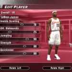 Updated Rookie Ratings for LeBron James in NBA Live 2004 (Part 2)