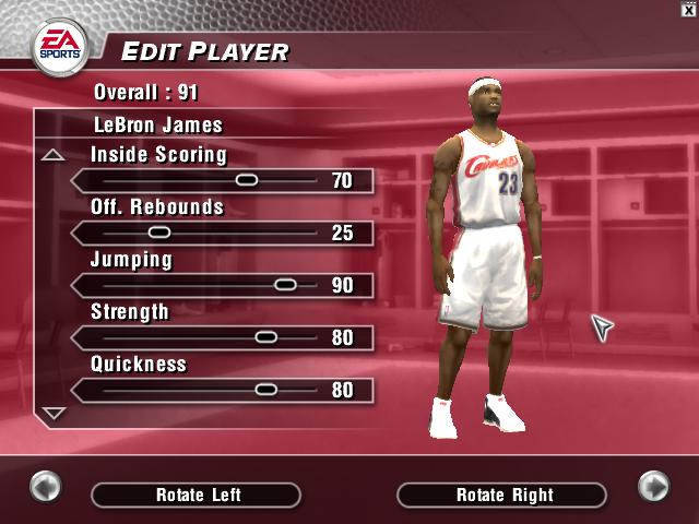 Wayback Wednesday: LeBron James in NBA Live 2004   NLSC