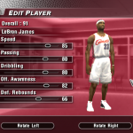 Updated Rookie Ratings for LeBron James in NBA Live 2004 (Part 3)