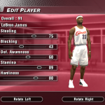 Updated Rookie Ratings for LeBron James in NBA Live 2004 (Part 4)