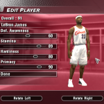 Updated Rookie Ratings for LeBron James in NBA Live 2004 (Part 5)