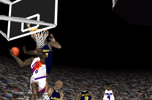 Shawn Kemp on the Phoenix Suns in NBA Live 97