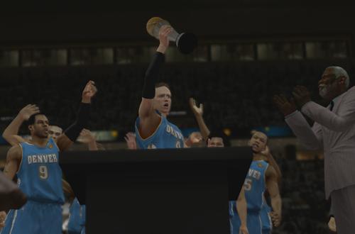 Finals MVP in NBA 2K13's MyCAREER