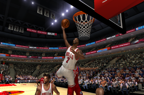 Ben Gordon dunks in NBA Live 06's Dynasty Mode