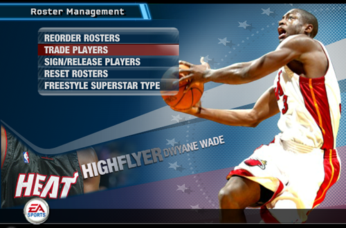 Roster Management in NBA Live 06
