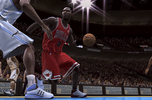 n the Chicago Bulls in NBA Live 08 (Xbox 360)