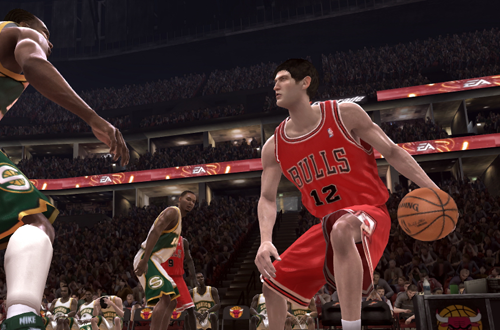 Kirk Hinrich on the Chicago Bulls in NBA Live 08 (Xbox 360)
