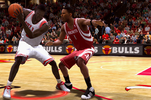 Luol Deng on the Chicago Bulls in NBA Live 09 (Xbox 360)