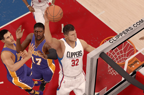 Blake Griffin dunks in NBA Live 16