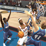Allen Iverson with the layup in NBA Live 2004