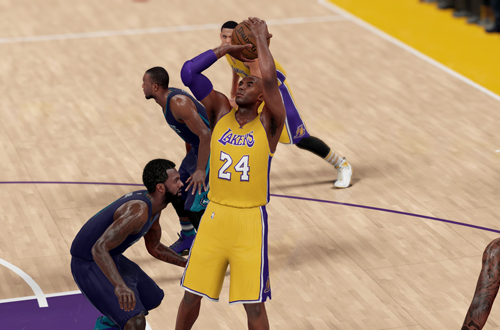 Kobe Bryant with the jumpshot in NBA 2K16