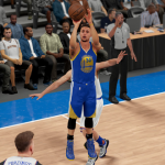 Stephen Curry with the three-pointer in NBA 2K16