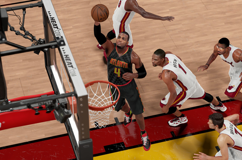Paul Millsap with the layup in NBA 2K16