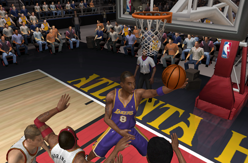 Kobe Bryant with the reverse layup in NBA Live 06