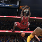Shawn Kemp dunks in NBA Live 15 Ultimate Team