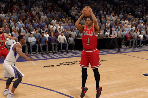 Derrick Rose with the jumpshot in NBA Live 16
