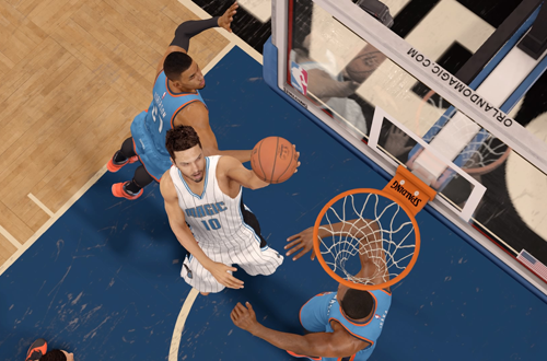 Evan Fournier with the layup in NBA Live 16