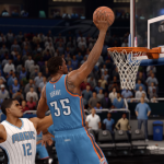 Kevin Durant dunking in NBA Live 16