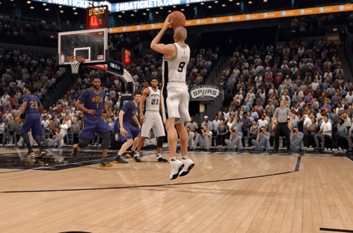 Tony Parker with the open jumpshot in NBA Live 16