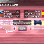The Charlotte Bobcats vs, Spain in NBA Live 2004