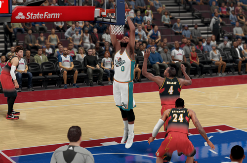 Retro Detroit Pistons jerseys, as worn by Andre Drummond in NBA 2K16