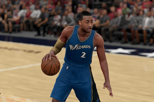 Retro Washington Wizards jerseys, as worn by John Wall in NBA 2K16