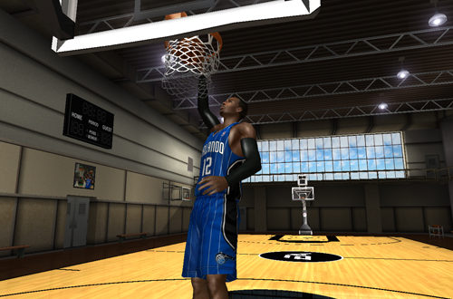 The Hanger Practice Court in NBA Live 08