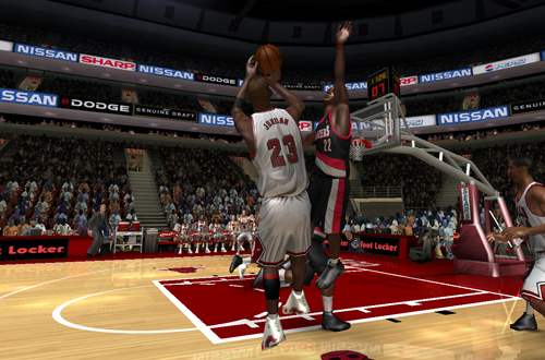 Michael Jordan vs. Clyde Drexler in the Ultimate Jordan Roster for NBA Live 08