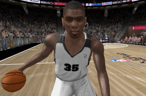 Kevin Durant in NBA Live 09 on PlayStation 2