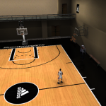NBA Live 15 adidas Basketball Practice Court Patch for NBA Live 15