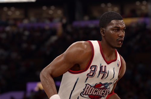 Retro Houston Rockets jerseys, as worn by Hakeem Olajuwon in NBA Live 16