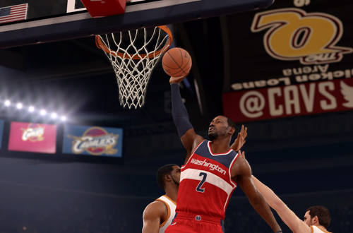 John Wall dunks in NBA Live 16